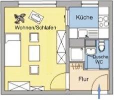 Wohnungsgrundriss - Wohnung für Auszubildende