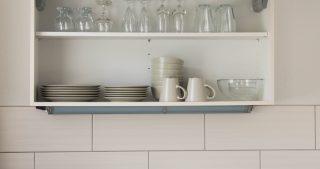 Küche mit Geschirr