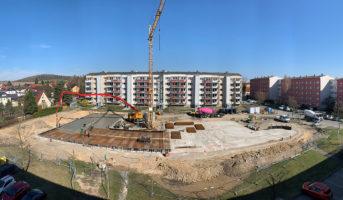 Beginn betonieren der Bodenplatte (04.04.2019)