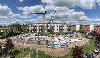 Aufbau neuer Kran für weitere Montage (13.05.2019)