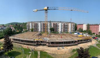 Montage Balkone und Stahleinlage Decke zum 1. OG (05.06.2019)
