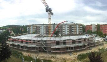 Betonage der oberen Geschossdecke (05.07.2019)