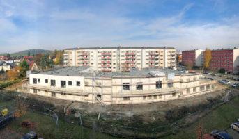 Fassade teilweise schon abgerüstet (24.10.2019)