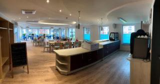 Innenansicht - WBG-Lounge / Quartierscafé (26.08.2021)
